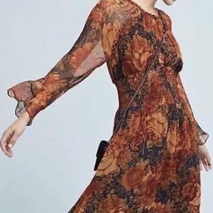 New Anthropologie ANTIK BATIK Mony Floral dress
